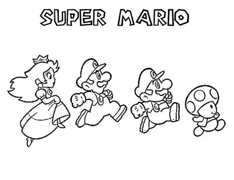 super mario characters coloring pages pinterest