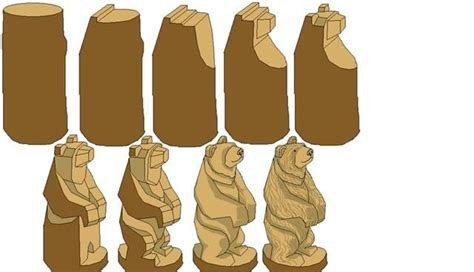 free whittling patterns google step by step bear carving its a big help projects to try