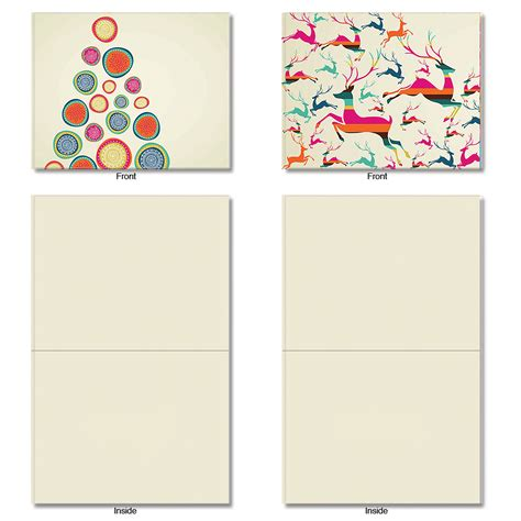blank cards with envelopes for card m6017 happy holidays 10 assorted blank note cards w