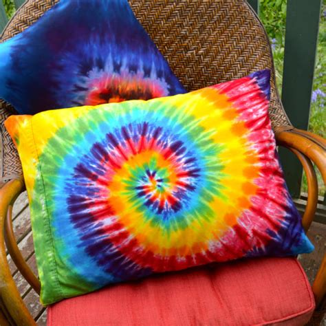 How To Tie Dye Pillow Cases by Items Similar To Dyed Rainbow Pillowcase Tie Dye