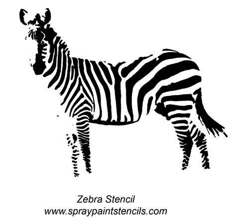 zebra template stencil requests for april 2007