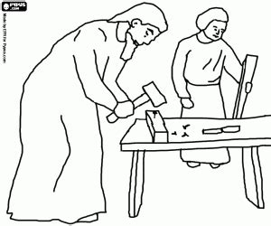 coloring pages of joseph the carpenter bible new testament coloring pages printable games 3