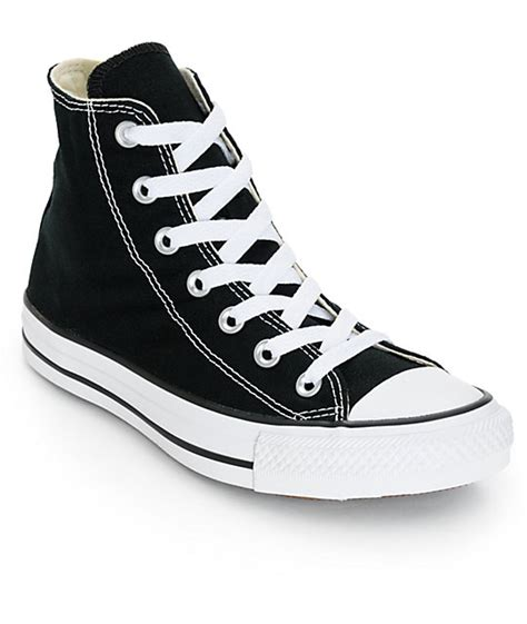 Converse Shoes High Black converse womens chuck all black high top shoes