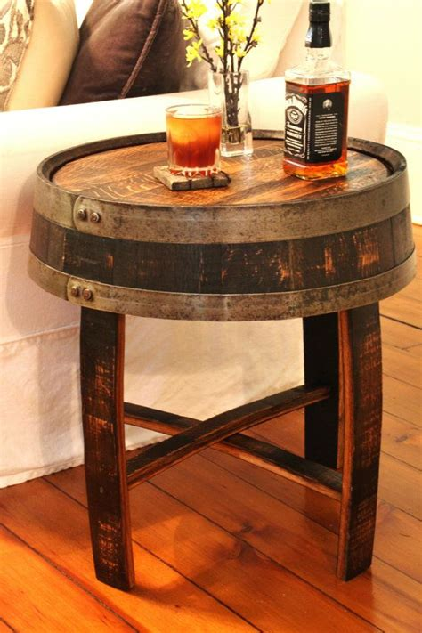 how to a whiskey barrel table 25 best ideas about whiskey barrel table on