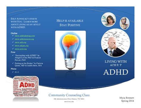 adhd and adults how to live with improve and manage your adhd or add as an books adhd dallas resources trifold brochure