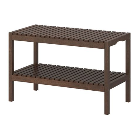 ikea wooden bench molger bench dark brown ikea