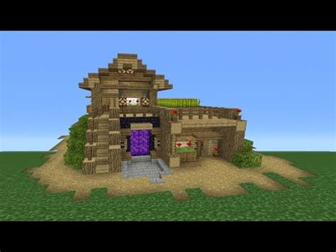 minecraft survival house minecraft tutorial how to make the ultimate survival house youtube