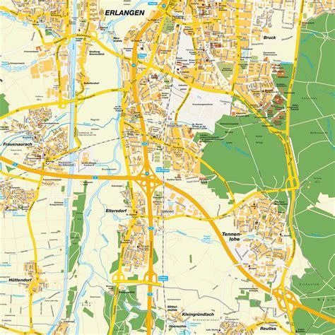 map of erlangen germany map erlangen bavaria bayern germany maps and