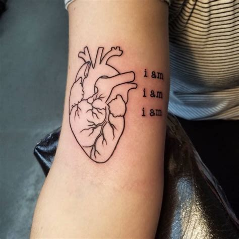 small heart tattoos on arm 110 best anatomical designs meanings 2018