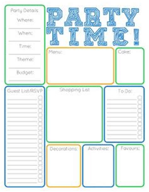 5 best images of party event printable planner party 1000 images about party inspiration on pinterest party