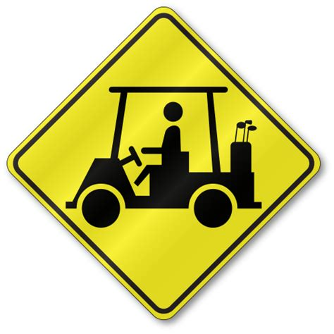 Golf Cart Sign W11 11 Tr02w1111 Golf Cart Sign Template