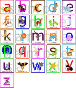 nursery wall decal with animals lowercase abcs alphabet cartoon sticker for kids room abc study kindergarten