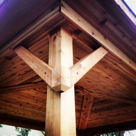 Tongue And Groove Cedar Ceiling by Covered Porch Gusset Design Pergola Tongue And Groove