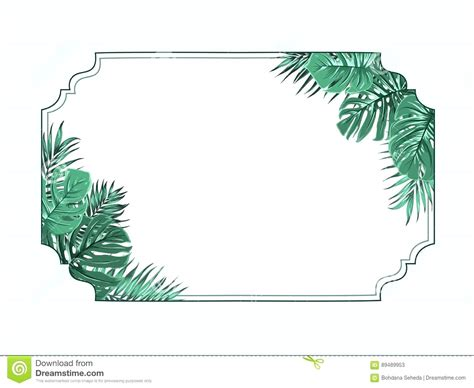 Good Tropical Christmas Cards #2: Leaf-border-template-exotic-tropical-frame-corners-microsoft-word.jpg