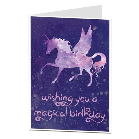 Wishing You A Magical Birthday Unicorn Card   LimaLima