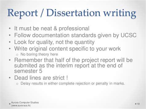 interim report dissertation bit ucsc project