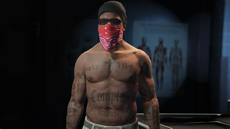 tattoo body franklin s rap legend tattoos gta5 mods