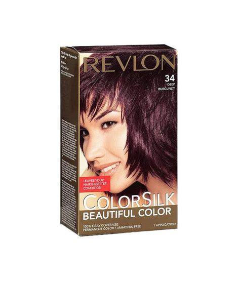 ammonia free hair color revlon colorsilk ammonia free hair color 34 deep burgundy