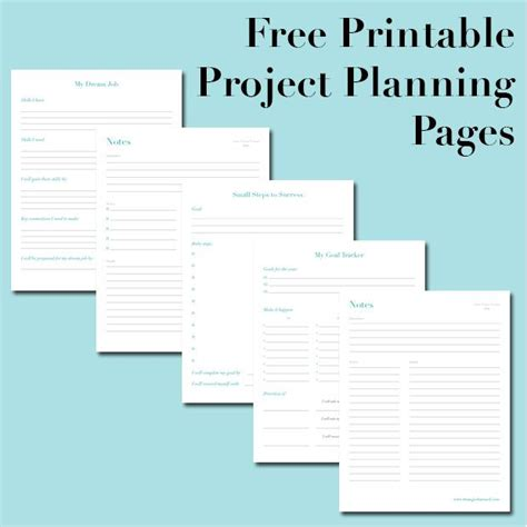 Free Printable Project Planning Pages Organized Days Project Planner Free Printables Free Project Plan Template Free