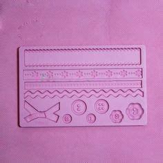 Baby Cetakan Silikonsilicone Mold Icing Clay Fondant 1 8cm flower f0029 fondant mold silicone sugar mini mold craft molds diy cake