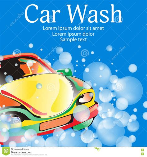 car wash poster template free car wash poster template for your design vector stock