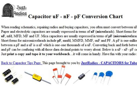 conversion of capacitor unit none