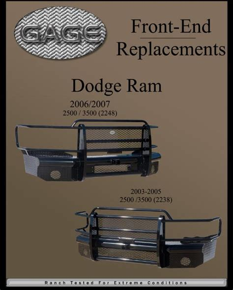 dodge rear end replacement bumpers ranch bumpers