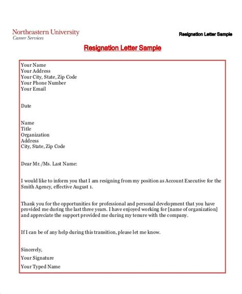 Informal Letter Of Offer Sle Informal Resignation Letter 4 Exles In Pdf Word