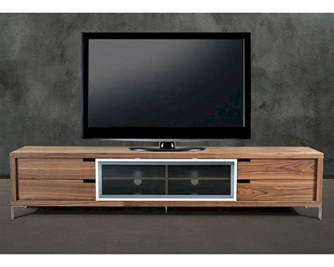 contemporary style walnut tv stand ent wal