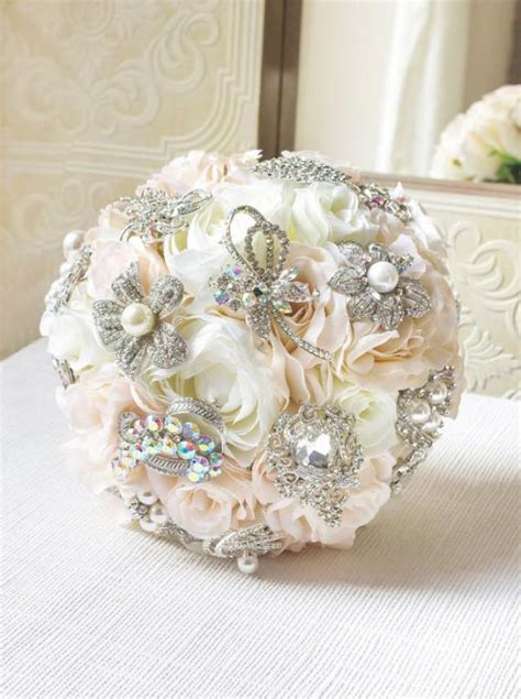 flower wedding brooches blush brooch bouquet silk flower brooch bouquet wedding bouquet bridal bouquet bridesmaid