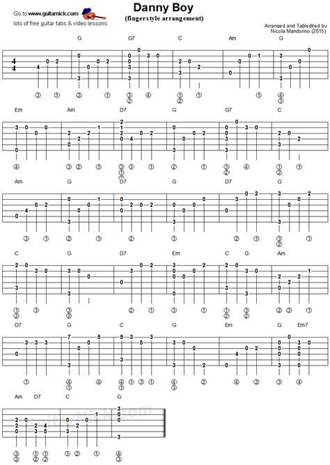 fingerstyle en la guitarra danny boy fingerstyle guitar tablature guitar keefy partituras guitarras y musica