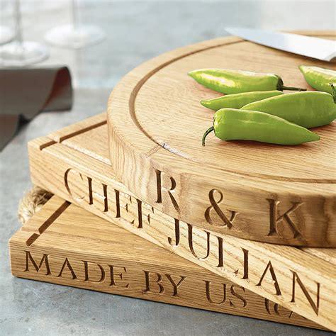 personalised oak chopping board by the oak rope company notonthehighstreet com