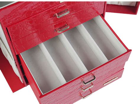 watch armoire large jewelry box cabinet armoire ring watch trinket organizer chest love s gift ebay