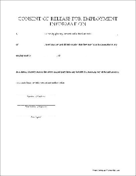 release of information consent form template best photos of simple consent form template consent form