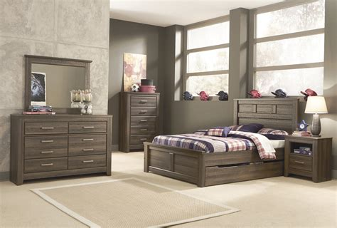 bedroom sets with storage under bed ashley juararo panel bedroom set with under bed storage in