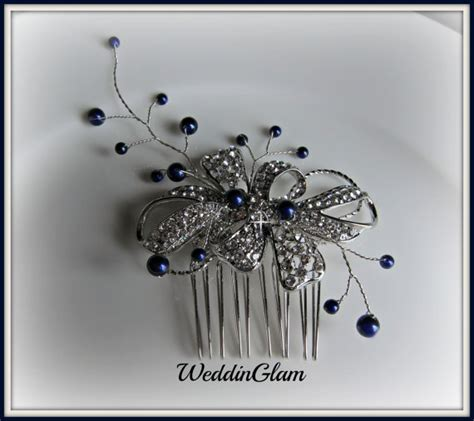 Wedding Hair Accessories Navy by Wedding Hair Accessories Midnight Blue Wedding Comb Tiara