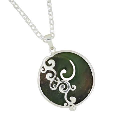 sterling silver new zealand greenstone pendant cameron