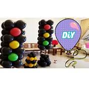 Sem&225foro De Bal&245es Passo A  How To Light Balloons YouTube