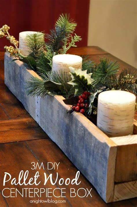 wooden christmas craft centerpieces 25 ideas to decorate your home with recycled wood this architecture design