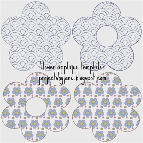 flower applique free flower applique templates projects by