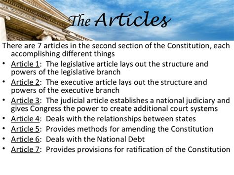 7 sections of the constitution constitution day ppt