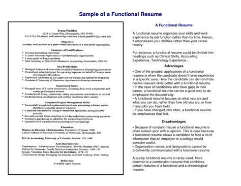 combination chronological and functional resume sle 28 images functional resume template