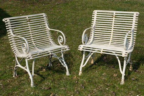 sedie da giardino sedie da giardino in ferro battuto con braccioli francia
