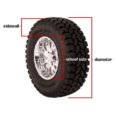 tire section height tire height chart calculator