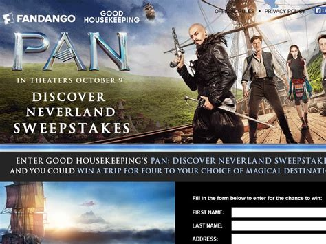Good Housekeeping Sweepstakes 2015 - good housekeeping s pan discover neverland sweepstakes sweepstakes fanatics