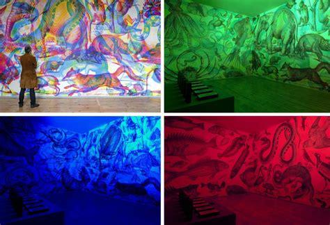 rgb mural shifts as lighting colors change urbanist