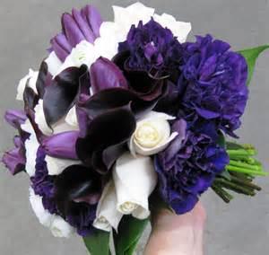 purple wedding bouquets purple stadium flowers