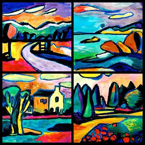 diy kandinsky landscape lessons arteascuola inspired by the kandinsky s landscapes art