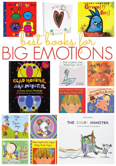 emotional themes in stories books about emotions for preschool pre k pages