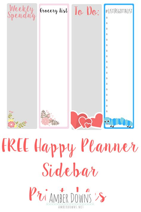 happy planner monthly printable happy planner amber downs